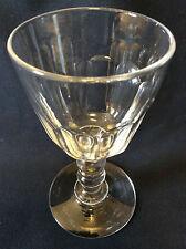 BACCARAT H 10,4cm verres cristal gondole Médicis taille côtes plates fin XIXe