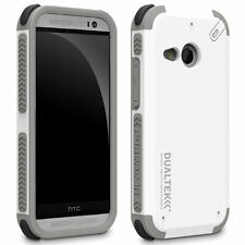 For HTC One mini 2/Remix Phone Case Cover White Hybrid Shockproof Rubber Shell