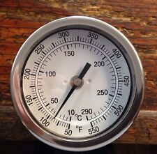 Pig Cooker Smoker BBQ Grill Thermometer Stainless 3 Inch Long Stem 50-550