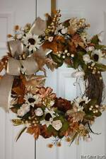 Fall Wreath Harvest Grapevine Wreath Thanksgiving Front Door Wreath Floral Decor