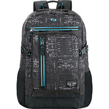"SOLO Midnight 15.6"" Backpack - Black Business & Laptop Backpack NEW"