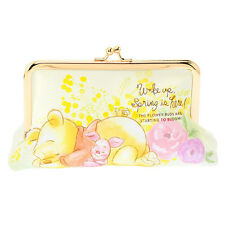Winnie the Pooh Piglet Clasp Pen Case Pencil Pouch Spring ❤ Disney Store Japan