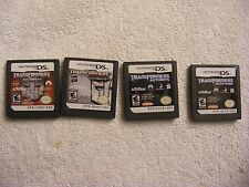 LOT OF 4 NINTENDO DS GAMES ONLY TRANSFORMER THEMED AUTOBOTS DECEPTICONS
