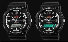 Montre Sport s-shock-3 Fuseaux horaires (Analogique + 2 Digital)-Alarme, Chrono