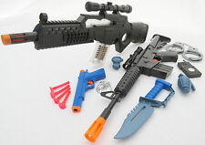 3x Toy Guns Special Force Rifle M4 Machine Gun Colt .45 Dart Pistol Toy Knife