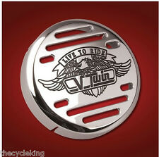 "Kawasaki Vulcan 500 VN 800 900 1500 - Chrome V-Twin 3-1/4"" Horn Cover"