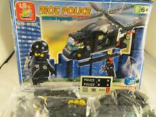 SLUBAN Building Block Bricks -  Riot Police Helicopter (M38-B1800)
