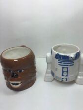 STAR WARS - CHEWBACCA & R2d2 Head Ceramic Coffee Cup / Mug, VINTAGE