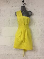 Warehouse Bright Yellow One Shoulder Rests Size 12 Party Festival Ball Wedding