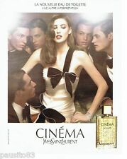 PUBLICITE ADVERTISING 116  2006  Yves Saint Laurent parfum femme Cinéma