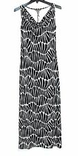 Tommy Bahama - XS - NWT $168 - B&W Abstract Sleeveless Jersey Knit Maxi Dress
