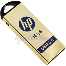 HP x725w 16GB USB 3.0 Flash Drive Memory Disk Pen Thumb Metal Housing Gold 16G