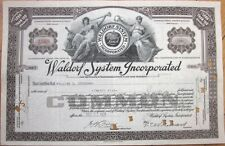 1924 Stock Certificate - 'Waldorf System, Incorporated'