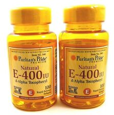 2x Vitamin E 400 IU: 100% NATURAL 200 Softgels