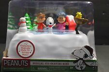 PEANUTS MUSICAL ICE SKATING RINK CHARLIE BROWN SNOOPY LUCY & WOODSTOCK NIP