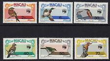 BIRDS : MACAO 1984 Ausipex  (Birds) set  SG 592-7 never-hinged mint
