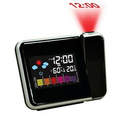 Digital Weather LCD Projection Snooze Alarm Clock with Colorful LED Backlight QT