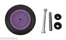 "PU 16"" PUNCTURE PROOF PURPLE WHEELBARROW WHEEL TYRE 4.80 - 8 FOAM FILLED + AXLE"