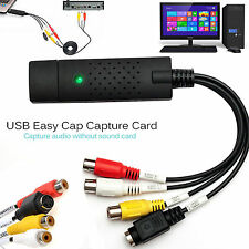 Easycap USB 2.0 Audio video VHS to DVD Converter Capture recorder Adaptor Cable