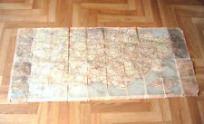 VINTAGE MICHELINE MOTORING GUIDE CLOTH MAP 3.15 MILE TO AN INCH PART OF BRITAIN