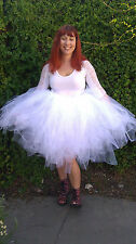 Extra Fluffy White Knee Length Tutu Skirt Photo Prop Dance Wedding Adult Tutu