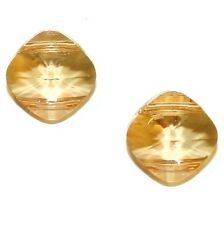 SCGA228f GOLDEN SHADOW 14mm Flat Faceted 2-Hole Square Swarovski Beads 2/pkg