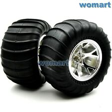 2Stück RC Big Foot Reifen Tires OD 110mm Hex 12mm 2.2in Wheels for Crawler Truck