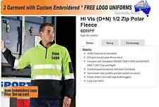 3 Custom HiVis Polar Fleecy  with Your Embroidered * FREE YOUR  LOGO UNIFORMS *