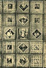 Alte Kunstpostkarte - Eglise de Foy Notre-Dame - Vue partielle du plafond