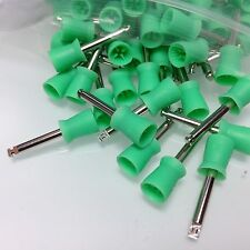 100 * Dental Prophy Tooth Polish Polishing Cup Brush Webbed Latch Type Rubber