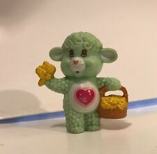Vintage 1984 Care Bear Cousin GENTLE HEART LAMB Mini Figure American Greetings
