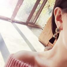 New Women Vintage Drop Earrings Hollow Rhinestone Tassel Long Dangle Earrings