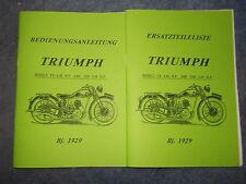 Beschreibung & Ersatzteilliste Triumph Modell CN 4.98/5.49 HP von 1929