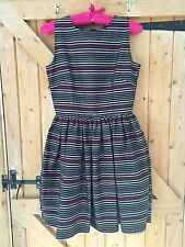 ASOS Blue & Rainbow Stripes Christmas Party Dress Size 6
