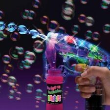 Light Up Bubble Gun LED Flashing Toy Bubbles Blaster Squirt Miracle Blower Maker