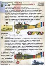 Print Scale Decals 1/72 BALLOON BUSTING ACES OF WWI Part 2 FRANCE