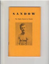 Eugen Sandow The Mighty Monarch Of Muscle Original Photo Booklet 1947, 63 pages