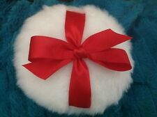 red bow / luxurious body powder puff, 5 inches
