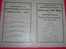 TRACK & FIELD MEET AT CARTIER FIELD, NOTRE DAME 1904