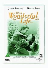 It's A Wonderful Life (DVD) Classic B&W Christmas Movie James Stewart, Donna New