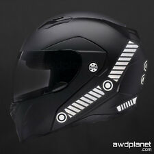 REFLECTIVE HELMET DECALS - 25 PIECE SAFETY KIT - BIKE, MOTORCYCLE, SNOWMOBILE