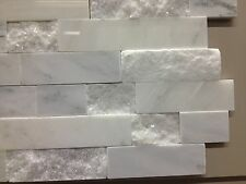 MARBLE CARRERA RANDOM STRIP SPLIT FACE polish TILE MOSAIC FREE SHIPPING 50SQ.FT
