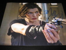 MILLA JOVOVICH SIGNED AUTOGRAPH 8x10 PHOTO RESIDENT EVIL PROMO IN PERSON COA L