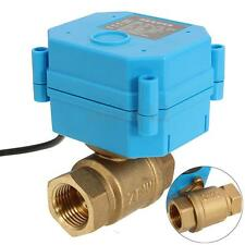 DC12V G1/2'' Electrical DN15 Valve  2 Way CR02 3-Wire Brass Motorized Ball Valve