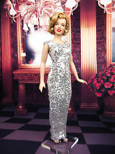 Eaki Silver Dress Outfit Gown Princess Diana Marilyn Monroe Michelle Obama Doll