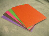 A4 Glitter Card Assorted Colours Soft Touch Low Shed 10 sheet Pk