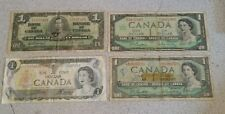 1937,1954,1967,1973 canada bank note 1 dollars
