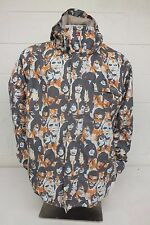 Quiksilver Face Print PatternWaterproof Breathable Technical Shell Jacket Med