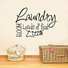 Quote Wall Sticker Lettering Laundry Room Loads of Fun Home Decor Art Decals