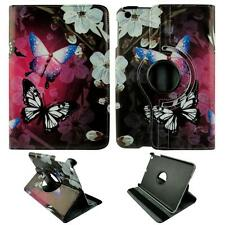 For Apple Ipad Mini 1 & 2 Butterfly White Flower Leather Tablet Case Cover